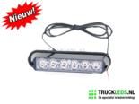 Oranje-LED-flitser-6W-mat