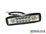 16W LED werklamp met oranje Led flitser._