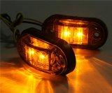 2 LED Zijmarkering/sier verlichting oranje._