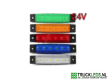 Markeer/sier LED blauw 24V._