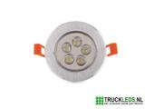 5 Watt LED inbouwspot._