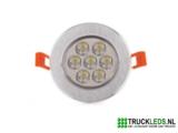 7 Watt LED inbouwspot._