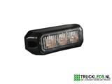 3W Slim-line LED flitser Oranje_