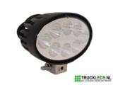 LED werklamp 24 Watt ovaal._