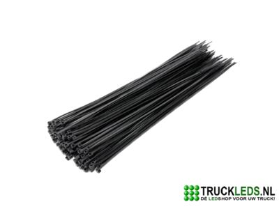 Kabelbinder 2.5x 200 zwart.