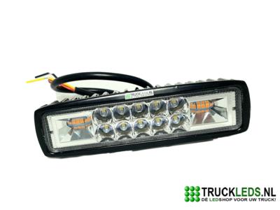 16W LED werklamp met oranje Led flitser.