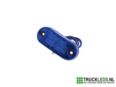 2 LED Zijmarkering/sier verlichting blauw.