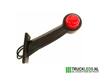 Flexibel LED breedte pootje rood/wit.