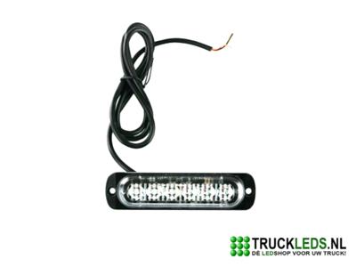 Ultra compacte LED flitser 18W Oranje.