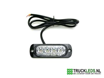 Ultra compacte LED flitser 12W Oranje.