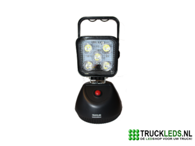 Draagbare LED werklamp met batterij
