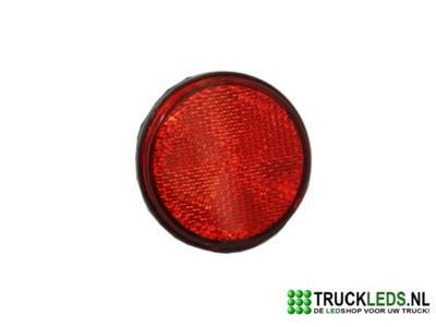 Ronde verlichte reflector rood