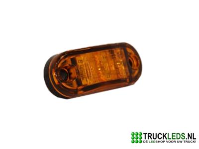 2 LED Zijmarkering/sier verlichting oranje.