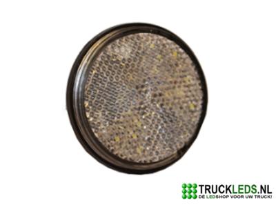 Verlichte ronde LED reflector wit.