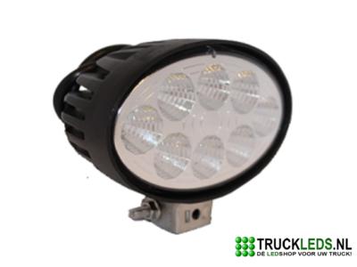 LED werklamp 24 Watt ovaal.