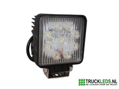 LED werklamp 27 Watt vierkant