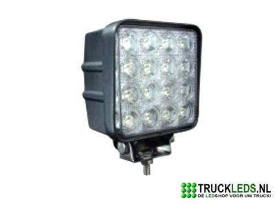 LED werklamp 48 Watt vierkant.